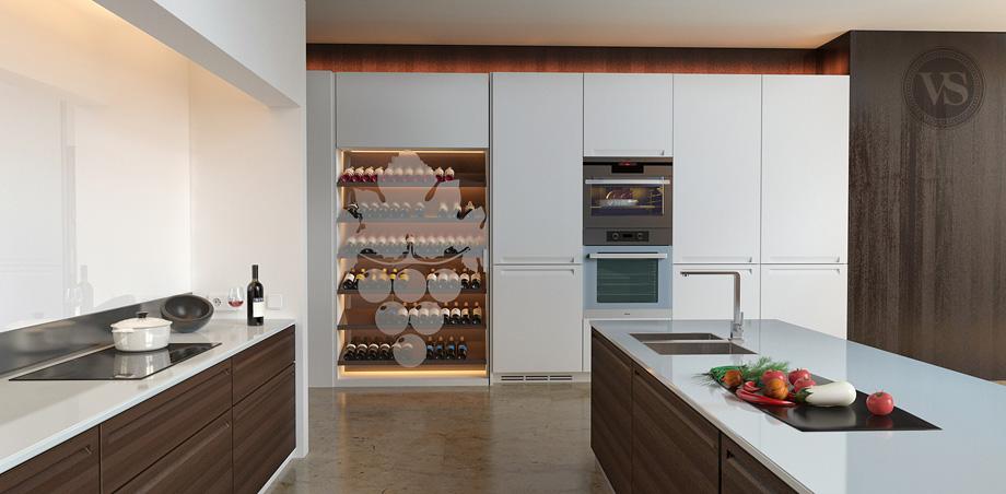 En cuisine for Cave a vin design salon